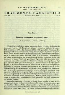 Świerszcze (Orthoptera, Grylloidea) Polski