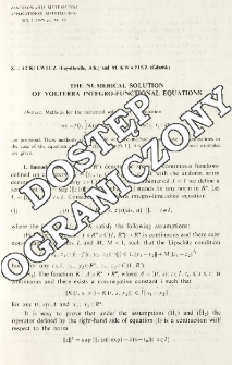 The numerical solution of Volterra integro-functional equations
