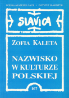 Nazwisko w kulturze polskiej