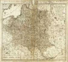 Mappa geographica Regni Poloniae [wersja niekolorowana]