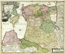 Dvcatvvm Livoniæ et Cvrlandiæ cum vicinis Insulis Nova Exhibitio Geographica