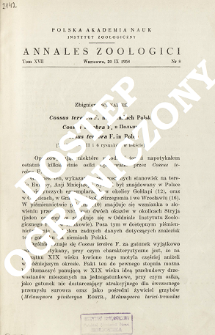 Cossus terebra F. na ziemiach Polski