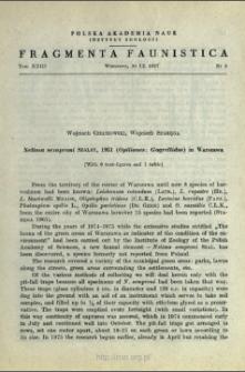 Nelima semproni Szalay, 1951 (Opiliones: Gagrellidae) in Warszawa