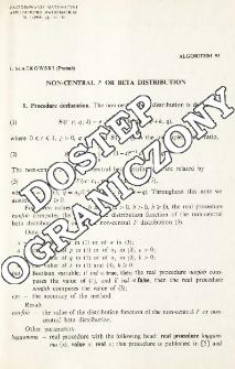 Algorithm 93 - Non-Central F or beta distribution