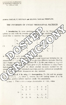 The inversion of cyclic tridiagonal matrices
