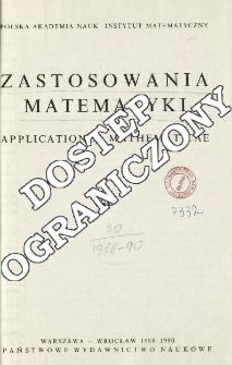 Zastosowania Matematyki = Applicationes Mathematicae, Spis treści i dodatki. T.20 (1988-1990)