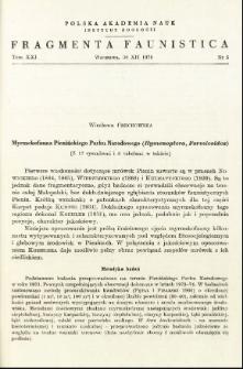 Myrmekofauna Pienińskiego Parku Narodowego (Hymenoptera, Formicoidea)