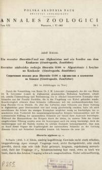 Uzupełnienia i sprostowania do znajomości malakofauny Pienin (Gastropoda terrestria)