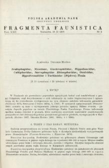 Scatophagidae, Muscinae, Gasterophilidae, Hippoboscidae, Calliphoridae, Sarcophagidae, Rhinophoridae, Oestridae, Hypodermatidae i Tachinidae (Diptera) Pienin