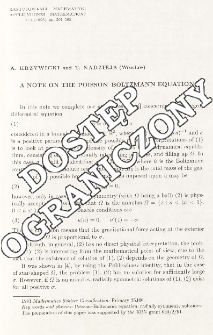 A note on the Poisson-Boltzmann equation