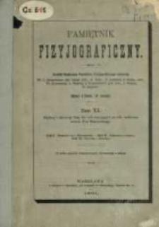 Pamiętnik Fizyjograficzny T. 11 (1891)