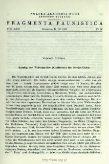 Katalog der Weberknechte (Opiliones) der Sowjet-Union