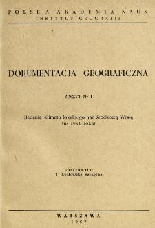 Badania klimatu lokalnego nad środkową Wisłą w 1954 roku
