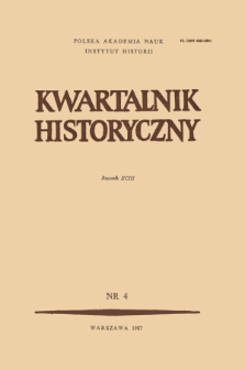 Kwartalnik Historyczny R. 93 nr 4 (1986). Title pages, Contents