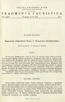 Skąposzczety (Oligochaeta) Pienin. 1 Wazonkowce (Enchytraeidae)