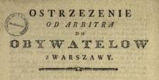 Ostrzezenie Od Arbitra Do Obywatelow Z Warszawy