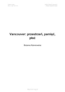 Vancouver: przestrzeń, pamięć, płeć