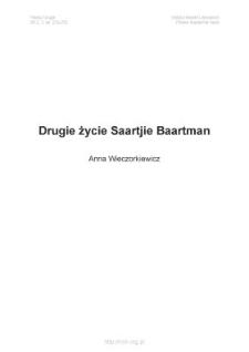 Drugie życie Saartjie Baartman