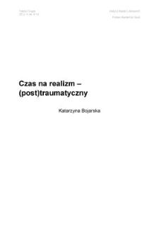 Teksty Drugie Nr 4 (2012)Czas na realizm – (post)traumatyczny