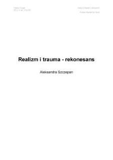 Realizm itrauma – rekonesans