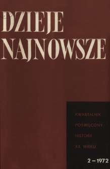 Dzieje Najnowsze : [kwartalnik poświęcony historii XX wieku] R. 4 z. 2 (1972), Dyskusja