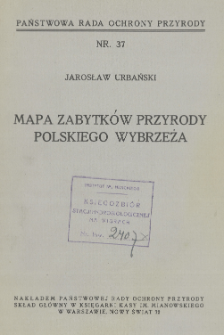 Mapa zabytków przyrody polskiego wybrzeża