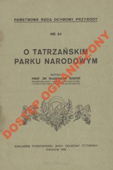 O Tatrzańskim Parku Narodowym