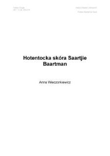 Hotentocka skóra Saartjie Baartman