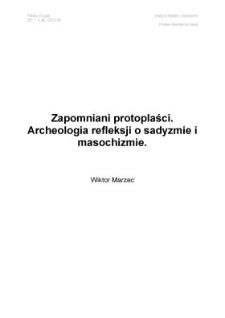 Zapomniani protoplaści. Archeologia refleksji o sadyzmie i masochizmie