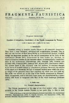 Carabids (Coleoptera, Carabidae) of the Vistula escarpment in Warsaw