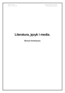 Literatura, język imedia