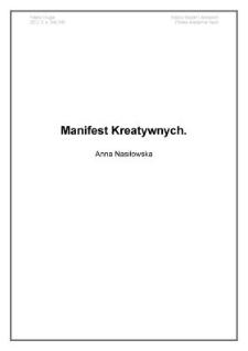 Manifest Kreatywnych