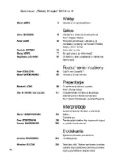 Teksty Drugie Nr 6 (2012), Spis treści