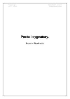Poeta i sygnatury
