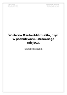 W stronę Maubert-Mutualité, czyli w poszukiwaniu straconego miejsca