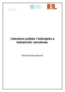 Literatura polska i hebrajska a tożsamość narodowa