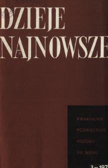 Dzieje Najnowsze : [kwartalnik poświęcony historii XX wieku] R. 5 z. 3 (1973), Artykuły recenzyjne i recenzje