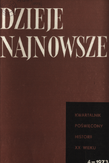 Dzieje Najnowsze : [kwartalnik poświęcony historii XX wieku] R. 5 z. 4 (1973), Recenzje