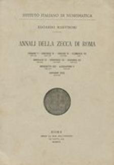 Annali della zecca di Roma. [1], Urbano V (1362-1362), Gregorio XI (1370-1378), Urbano VI (1378-1389), Clemente VII (1378-1394), Bonifacio IX (1389-1404), Innocenzo VII (1404-1406), Gregorio XII (1406-1415), Benedetto XIII (1394-1423), Alessandro V (1409-1410), Giovanni XXIII (1410-1415)