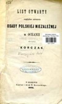 List otwarty względem założenia Osady Polskiej niezależnej w Oceanii