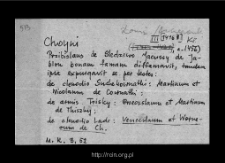 Stare Chojny. Kartoteka Słownika historyczno-geograficznego Mazowsza w średniowieczu. Kartoteka powiatu łomżyńskiego w średniowieczu