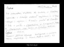 Osetno. Kartoteka powiatu ostrołęckiego w średniowieczu. Kartoteka Słownika historyczno-geograficznego Mazowsza w średniowieczu