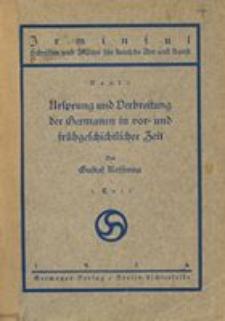 Ursprung und Verbreitung der Germanen in vor- und frühgeschichtlicher Zeit. T. 1