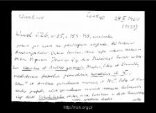 Wierzbowo. Kartoteka Słownika historyczno-geograficznego Mazowsza w średniowieczu. Kartoteka powiatu łomżyńskiego w średniowieczu