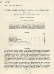 Food habits of British stoats (Mustela erminea) and weasels (Mustela nivalis)