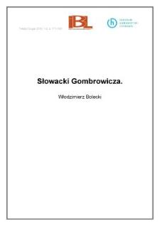Sowacki Gombrowicza