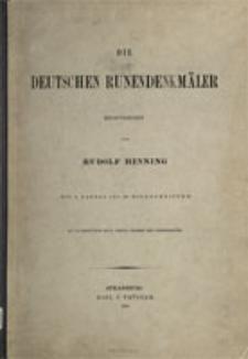 Die deutschen Runendenkmäler