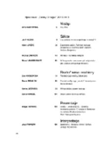 Teksty Drugie Nr 3 (2010), Spis treści