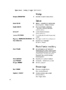 Teksty Drugie Nr 4 (2010), Spis treści