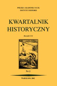 Kwartalnik Historyczny R. 109 nr 2 (2002), Strony tytułowe, spis treści